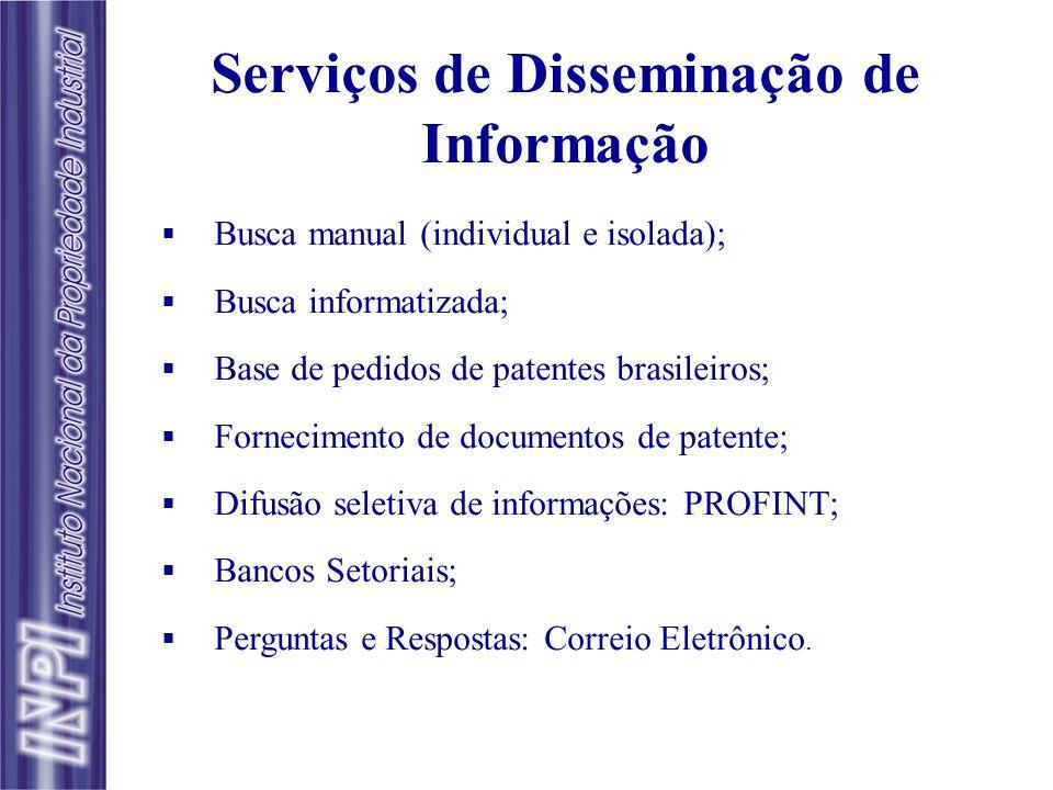 Serviços de Disseminação de Informação