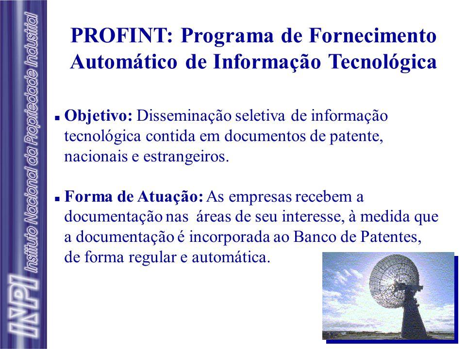 PROFINT: Programa de Fornecimento Automático de Informação Tecnológica