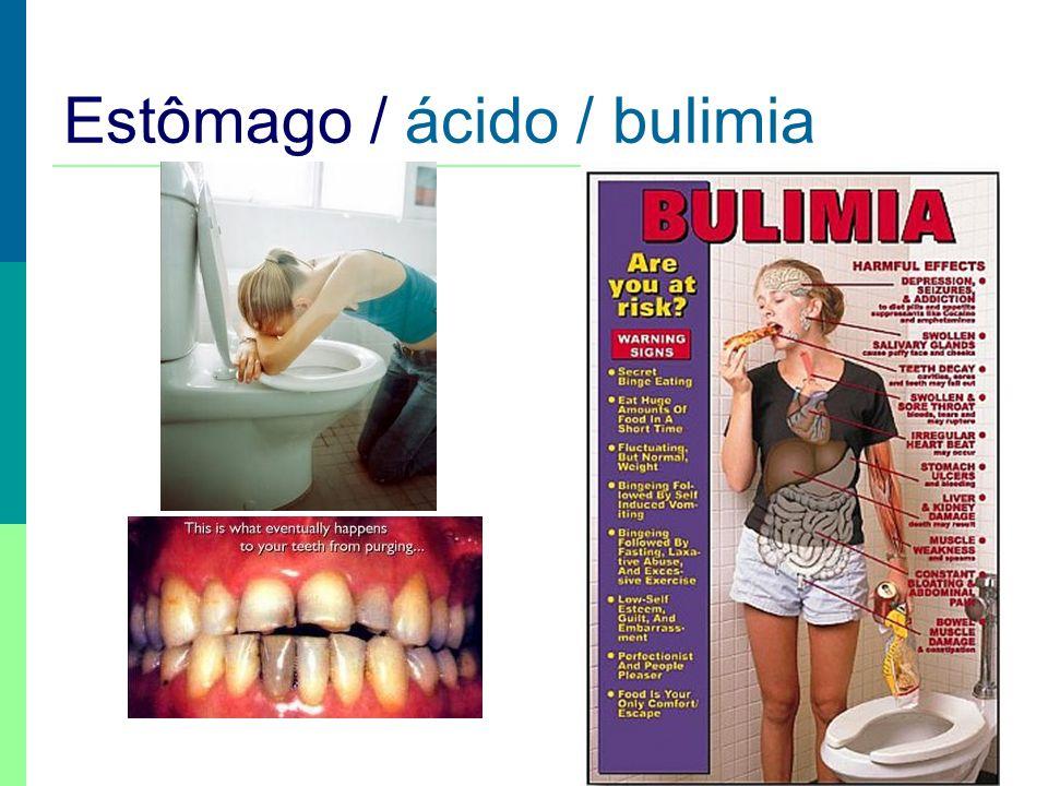 Estômago / ácido / bulimia