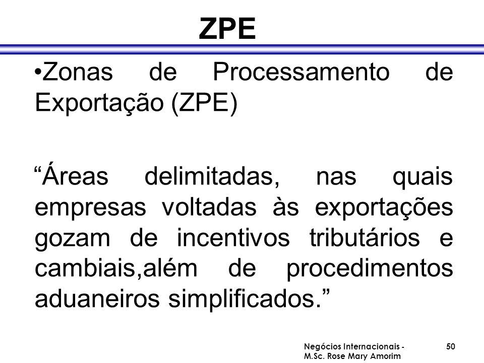 ZPE Zonas de Processamento de Exportação (ZPE)