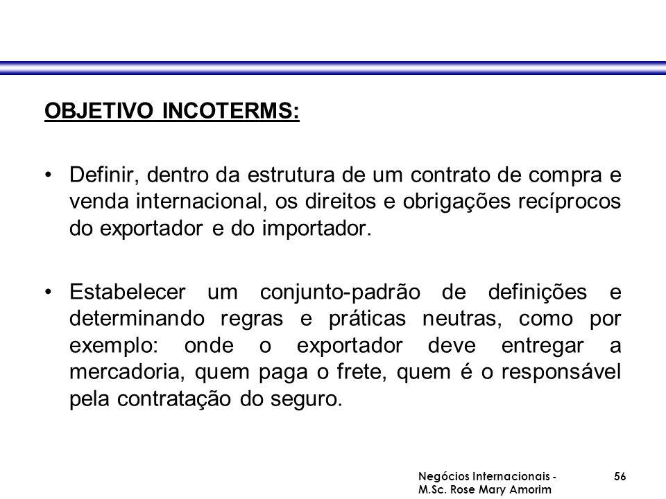 INCOTERMS – Termos do Comércio Internacional