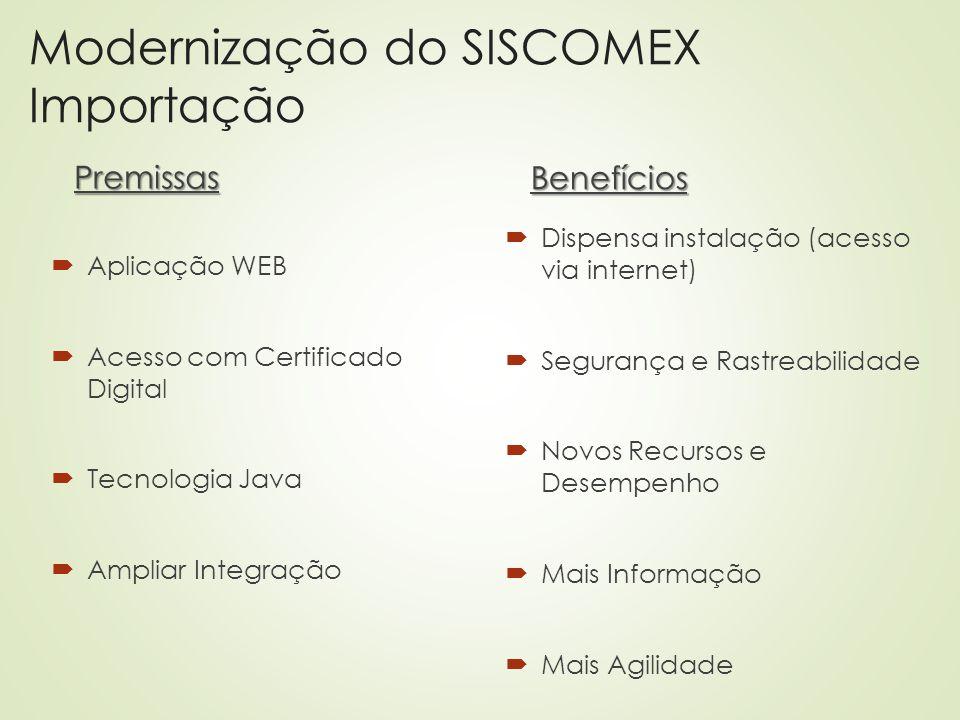 Modernização do SISCOMEX Importação