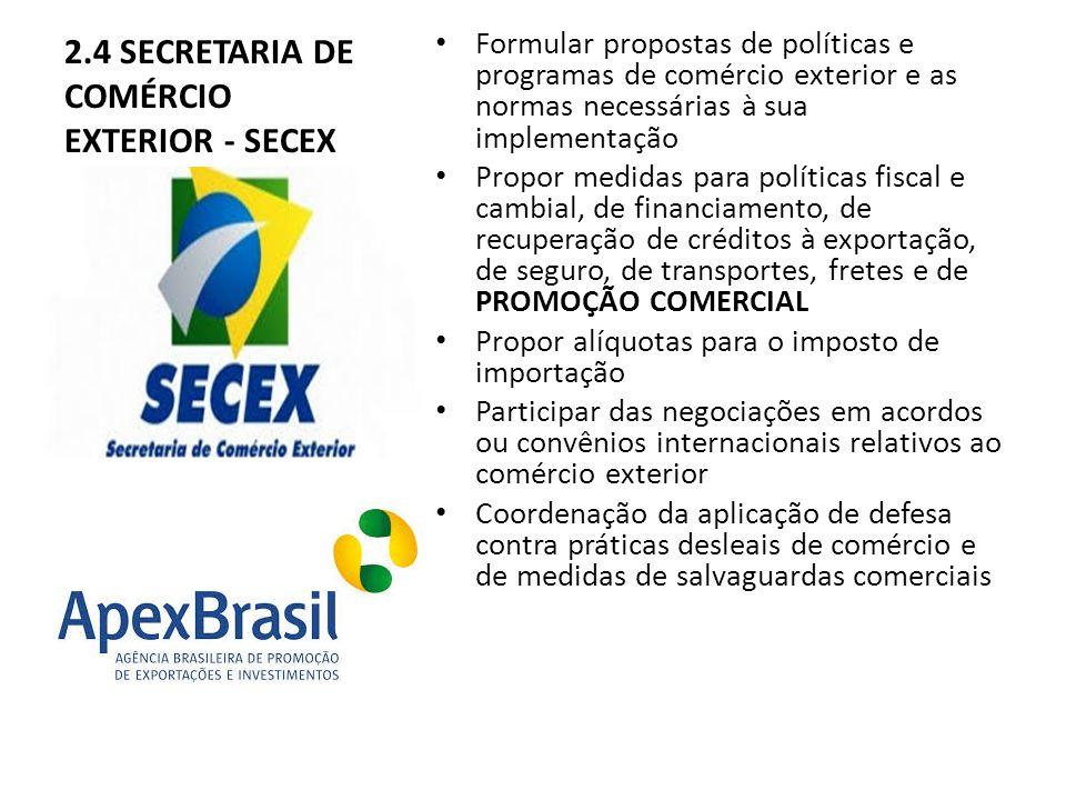 2.4 SECRETARIA DE COMÉRCIO EXTERIOR - SECEX
