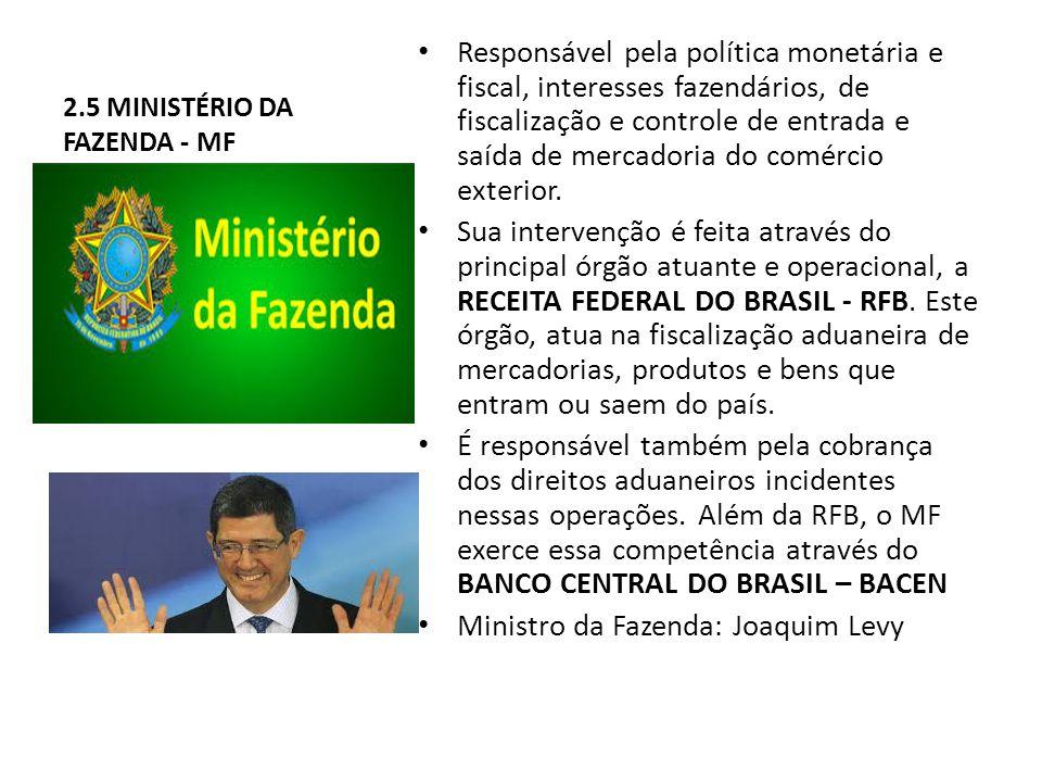2.5 MINISTÉRIO DA FAZENDA - MF