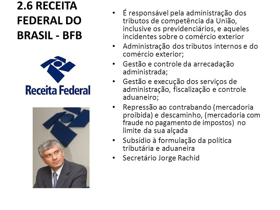 2.6 RECEITA FEDERAL DO BRASIL - BFB