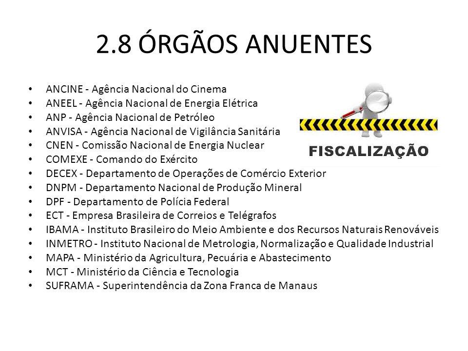 2.8 ÓRGÃOS ANUENTES ANCINE - Agência Nacional do Cinema
