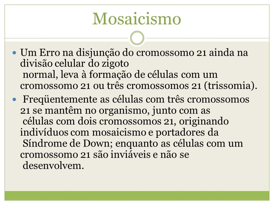 Mosaicismo