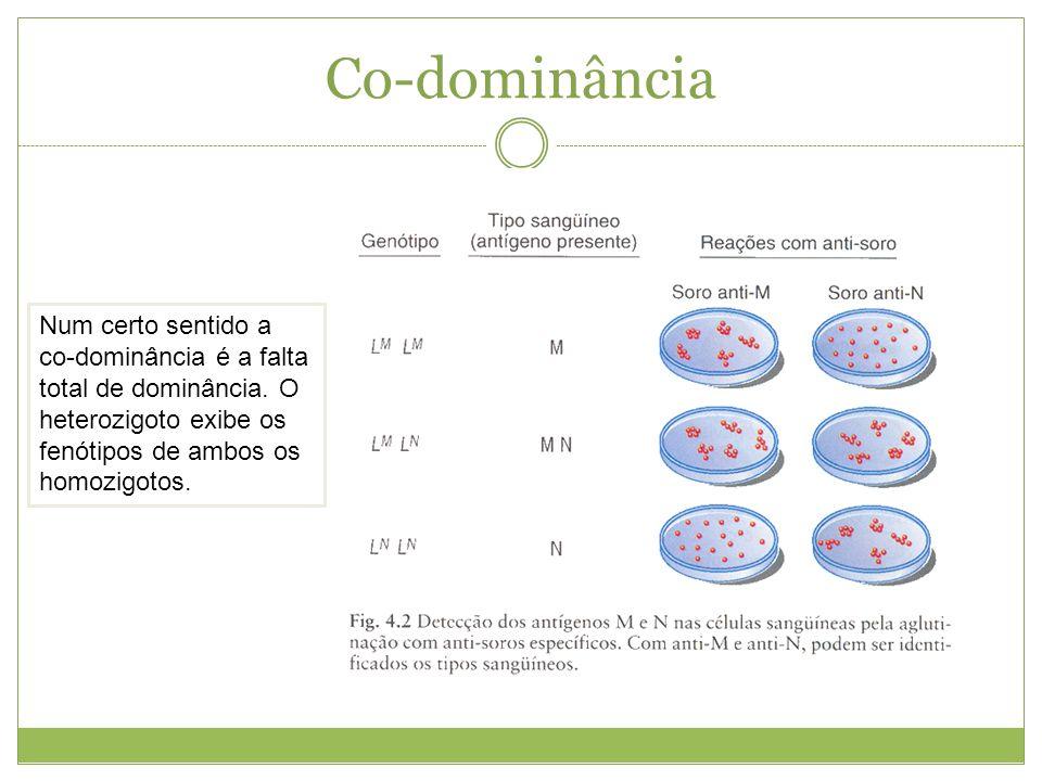 Co-dominânciaNum certo sentido a co-dominância é a falta total de dominância.