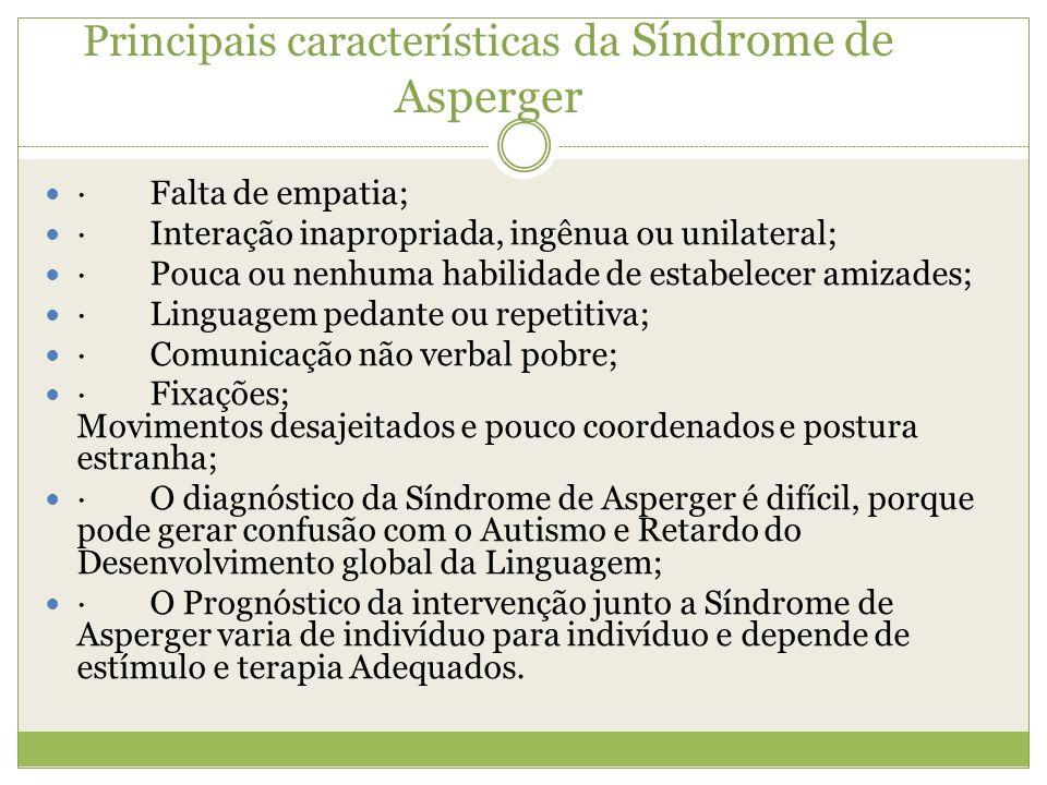 Principais características da Síndrome de Asperger