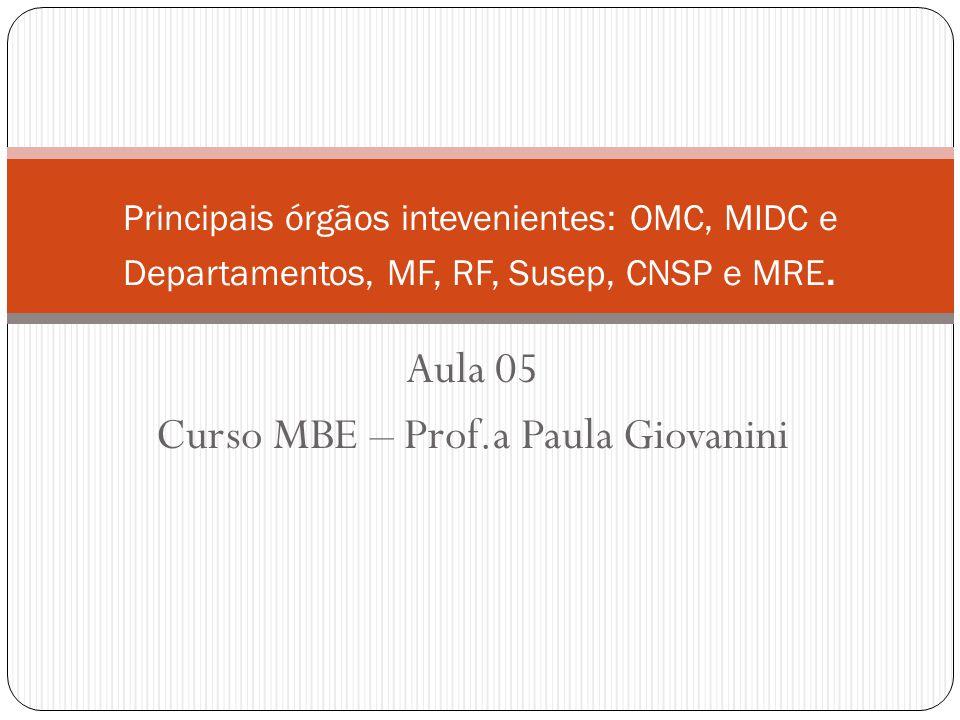 Aula 05 Curso MBE – Prof.a Paula Giovanini