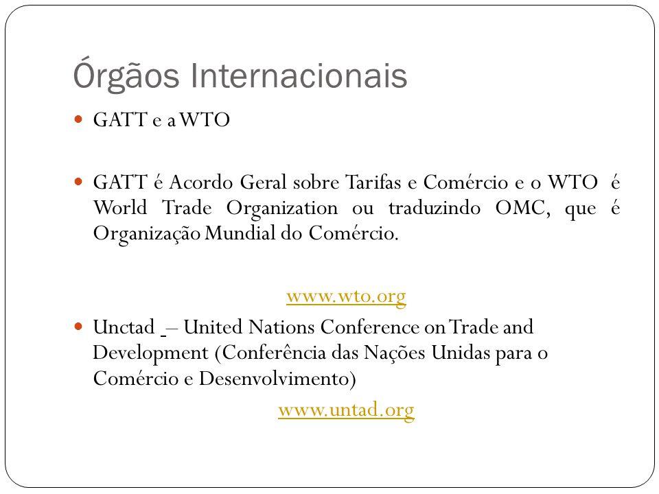 Órgãos Internacionais