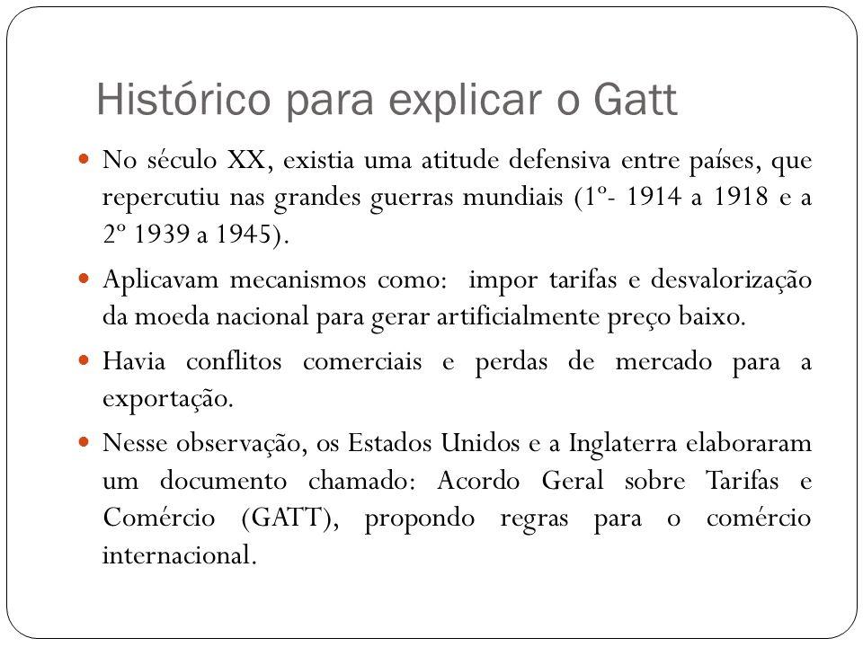 Histórico para explicar o Gatt