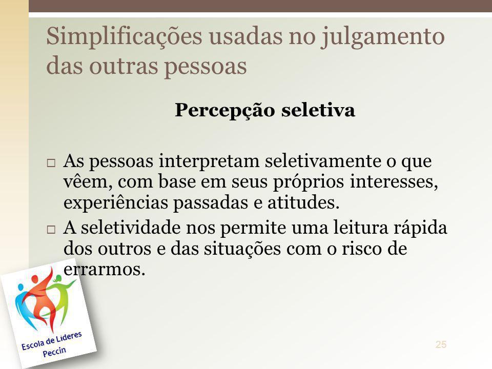 Simplificações usadas no julgamento das outras pessoas