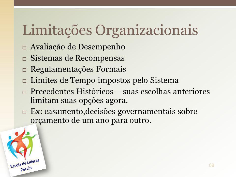 Limitações Organizacionais