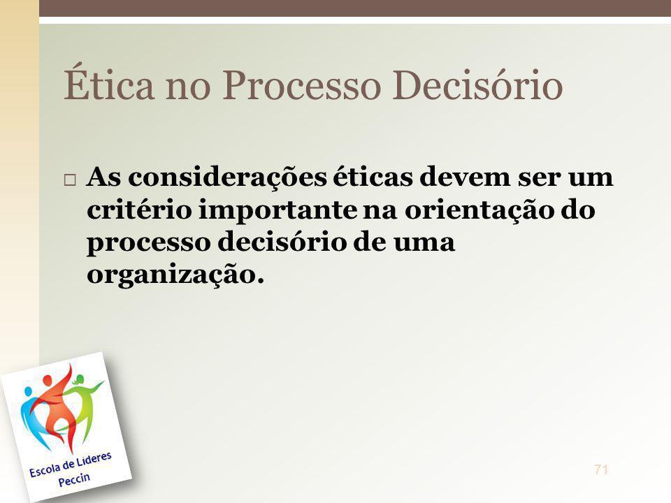 Ética no Processo Decisório