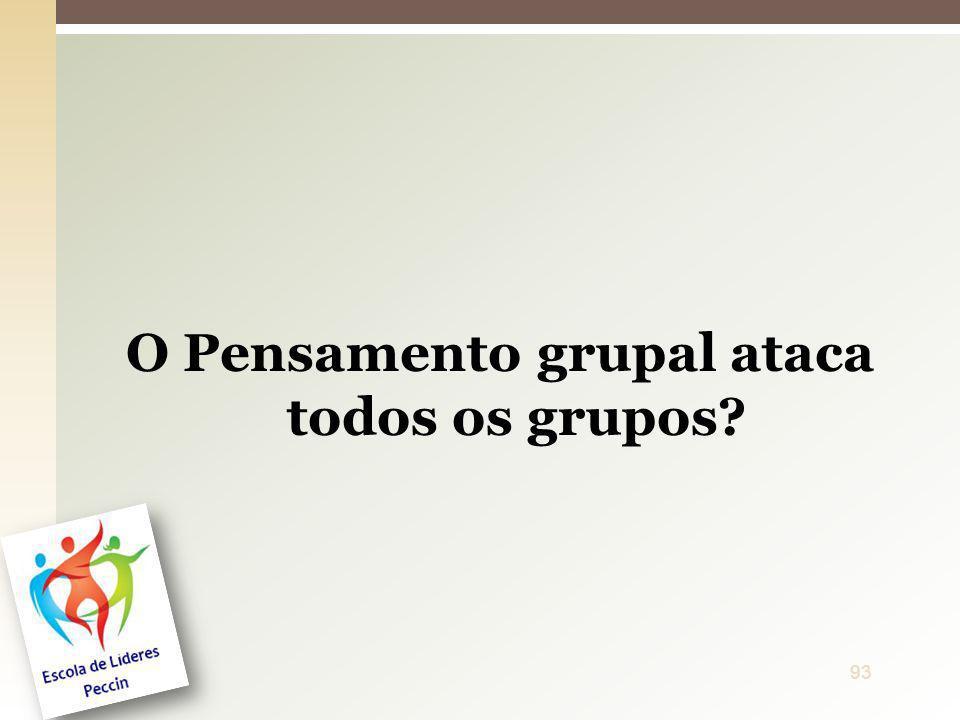 O Pensamento grupal ataca todos os grupos