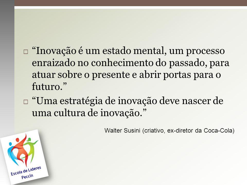 Uma estratégia de inovação deve nascer de uma cultura de inovação.