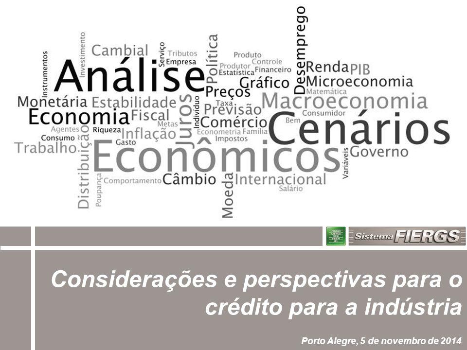 Considerações e perspectivas para o crédito para a indústria