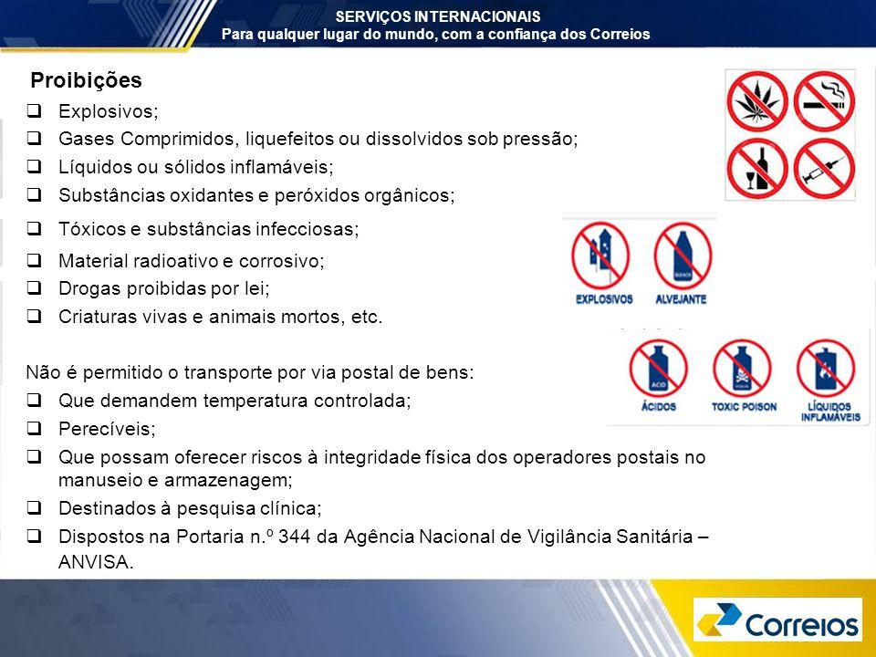 Proibições Explosivos;