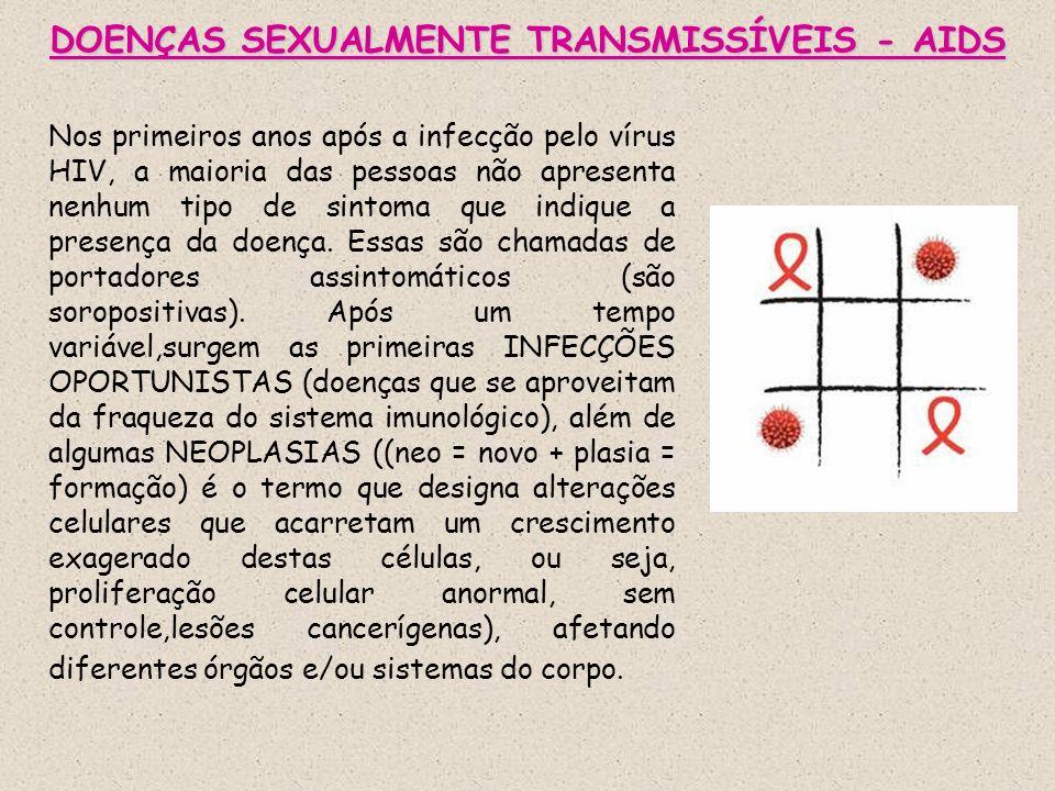 DOENÇAS SEXUALMENTE TRANSMISSÍVEIS - AIDS