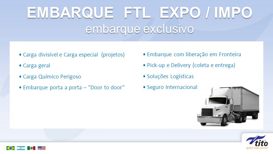 EMBARQUE FTL EXPO / IMPO embarque exclusivo