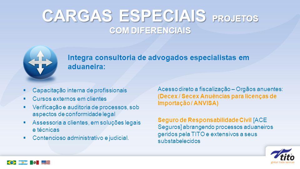 CARGAS ESPECIAIS PROJETOS COM DIFERENCIAIS
