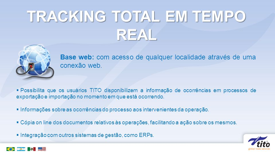 TRACKING TOTAL EM TEMPO REAL