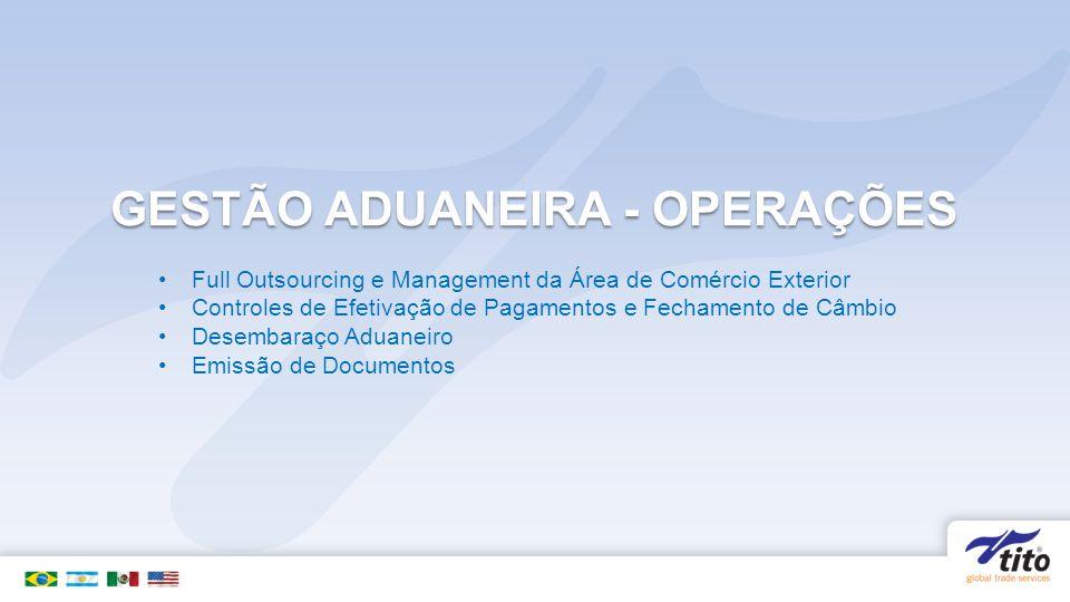 GESTÃO ADUANEIRA - OPERAÇÕES