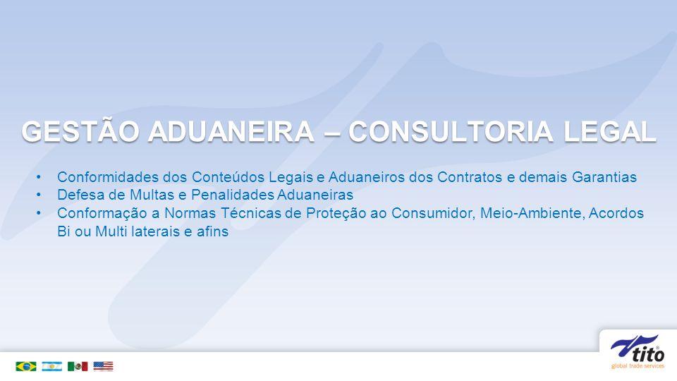 GESTÃO ADUANEIRA – CONSULTORIA LEGAL