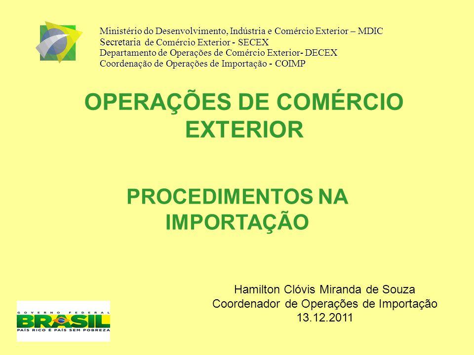 OPERAÇÕES DE COMÉRCIO EXTERIOR