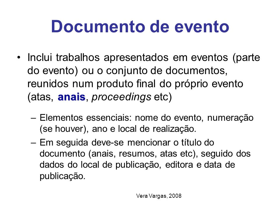 Documento de evento