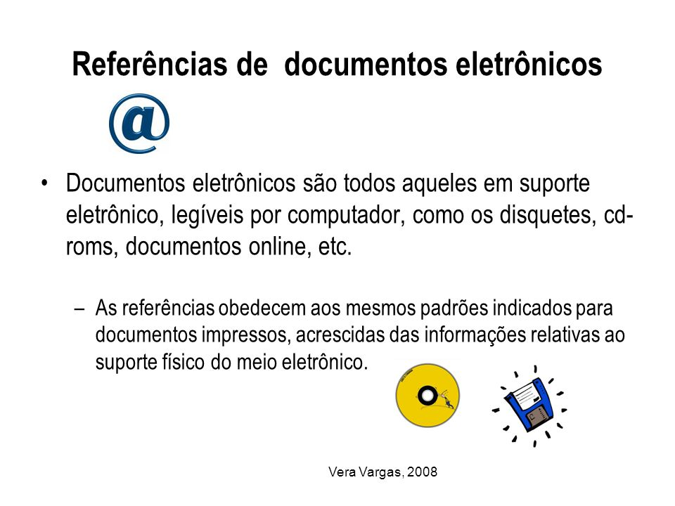 Referências de documentos eletrônicos