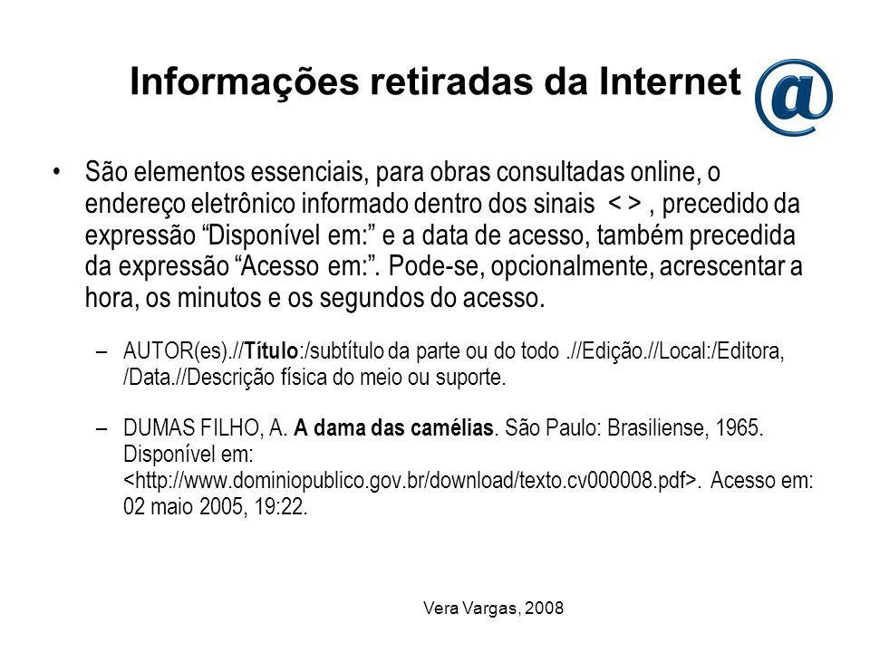 Informações retiradas da Internet