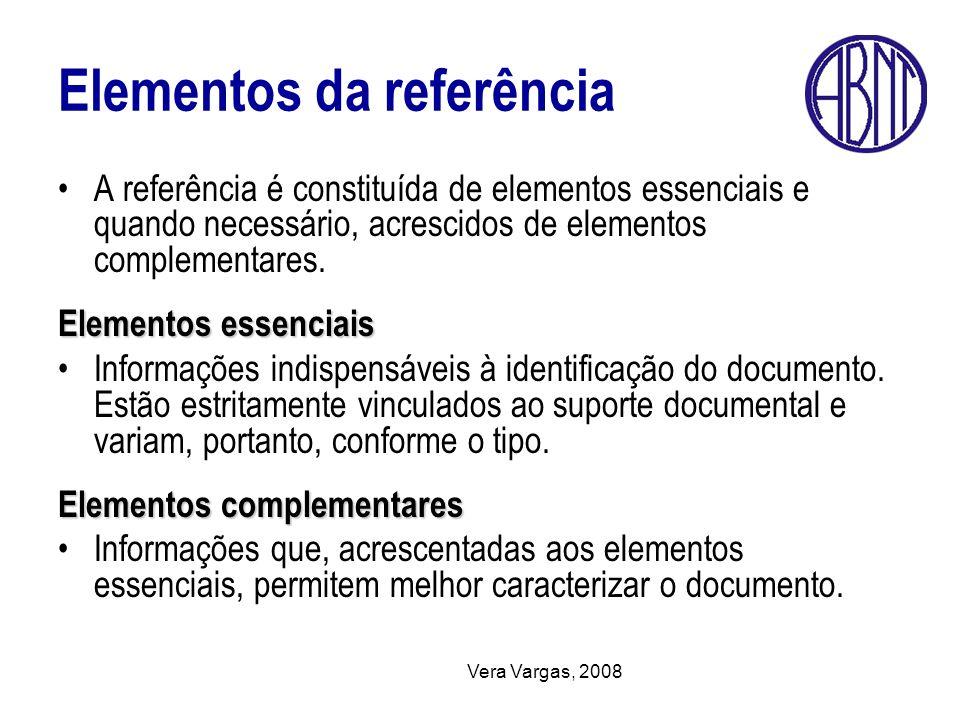 Elementos da referência
