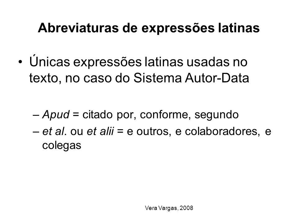 Abreviaturas de expressões latinas