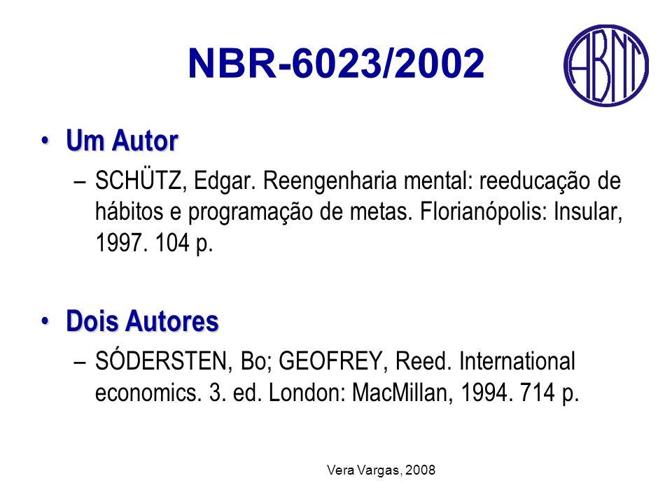 NBR-6023/2002 Um Autor Dois Autores