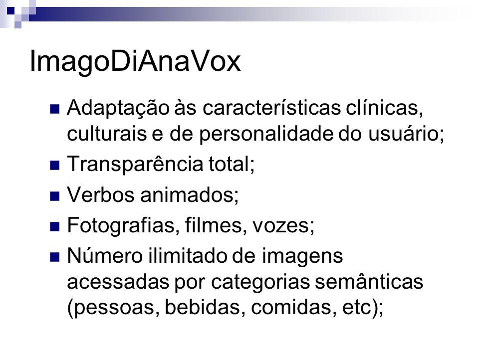 ImagoDiAnaVox Adaptação às características clínicas, culturais e de personalidade do usuário; Transparência total;