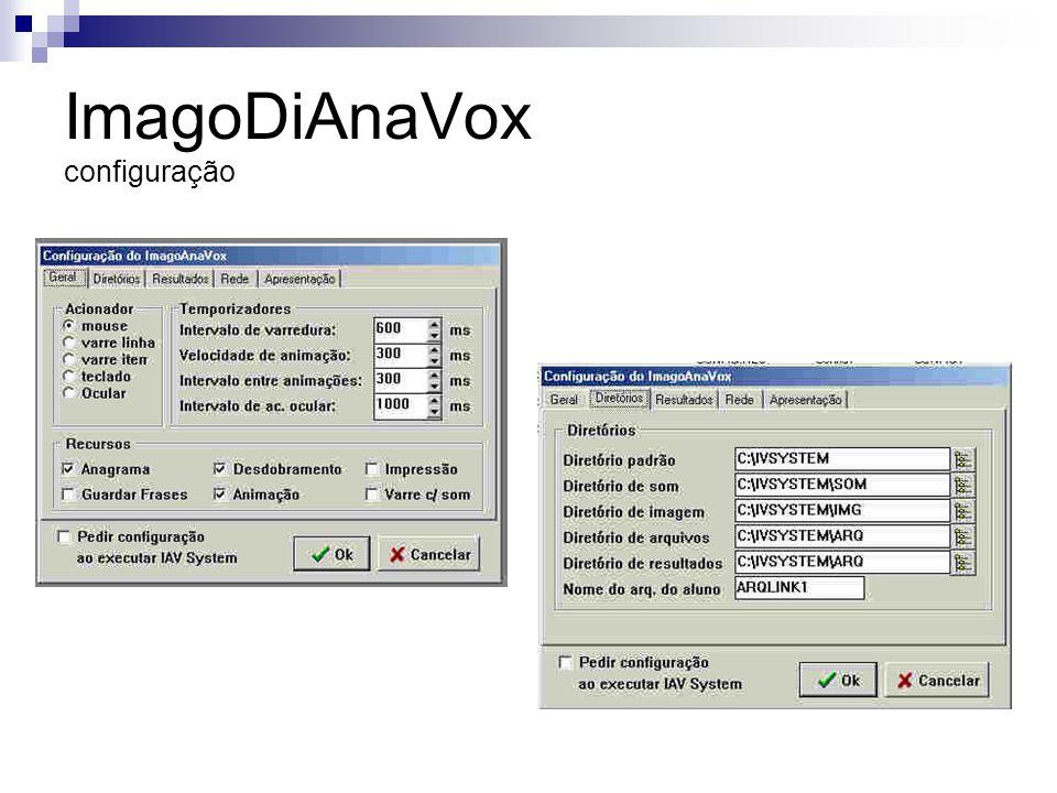 ImagoDiAnaVox configuração