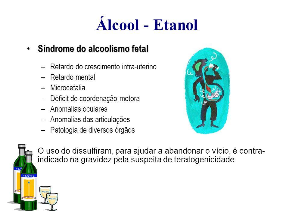 Álcool - Etanol Síndrome do alcoolismo fetal