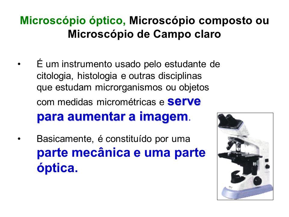 Microscópio óptico, Microscópio composto ou Microscópio de Campo claro