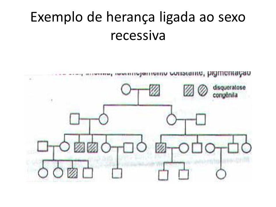 Exemplo de herança ligada ao sexo recessiva