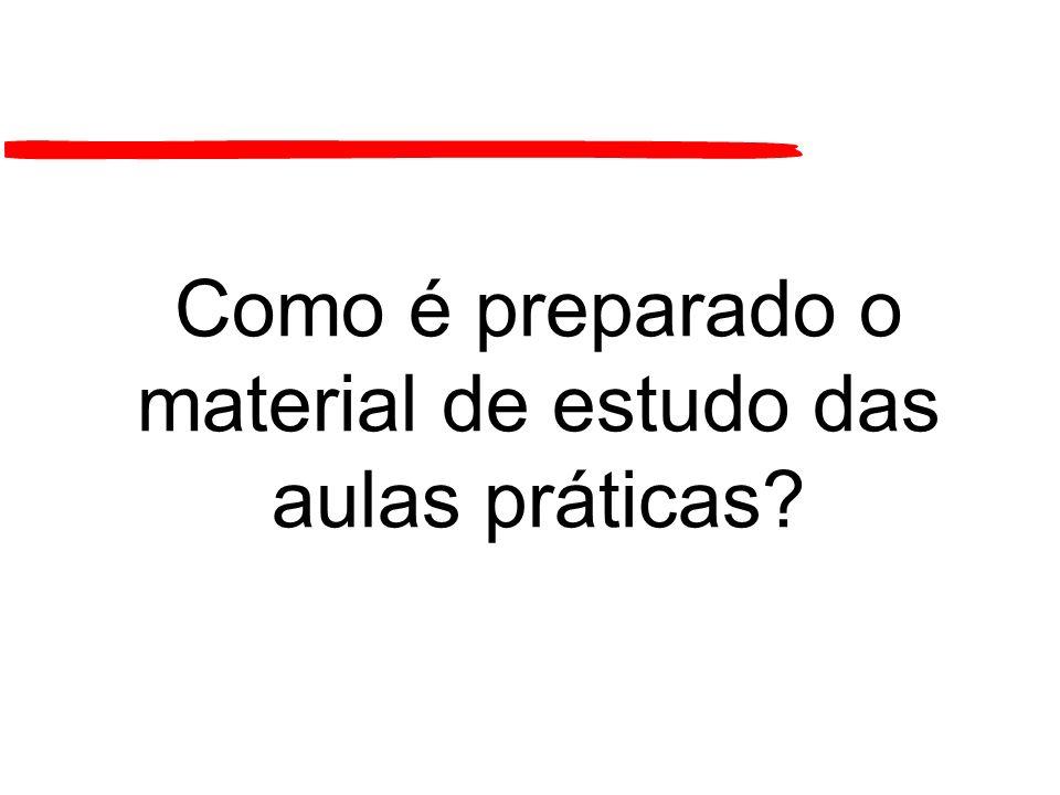 Como é preparado o material de estudo das aulas práticas