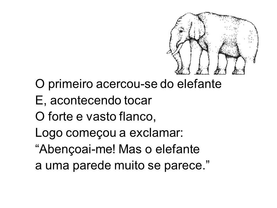 O primeiro acercou-se do elefante