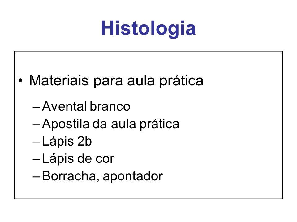 Histologia Materiais para aula prática Avental branco