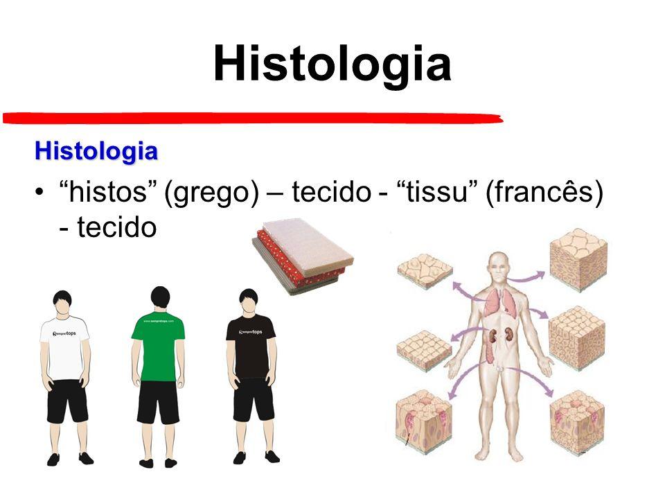Histologia histos (grego) – tecido - tissu (francês) - tecido