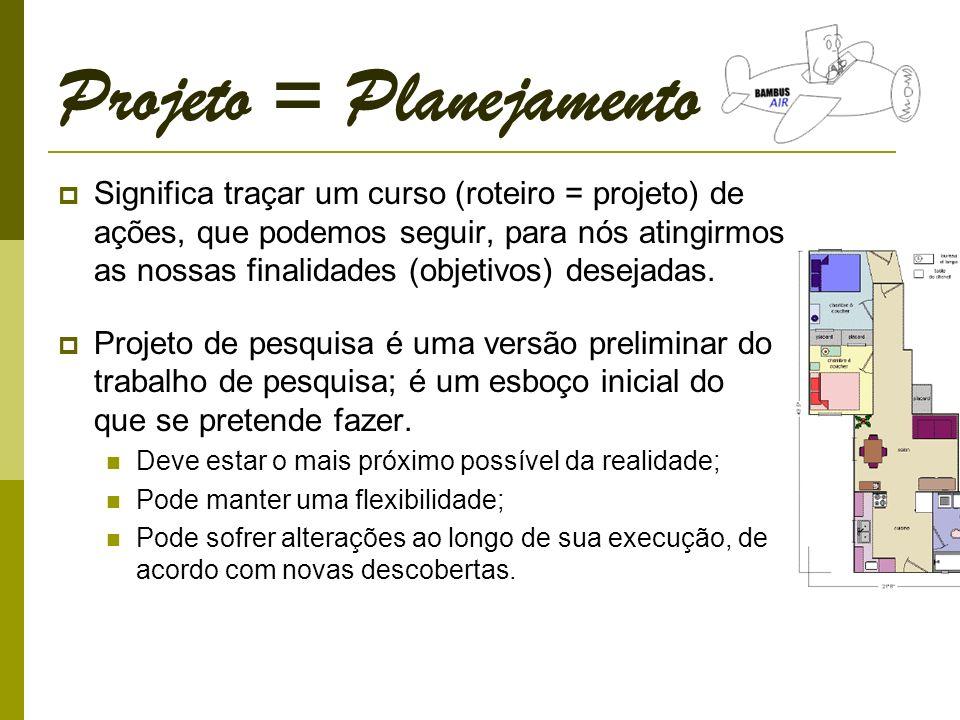 Projeto = Planejamento