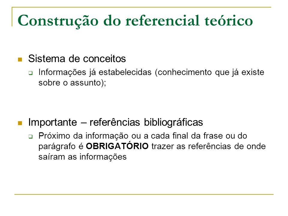 Construção do referencial teórico