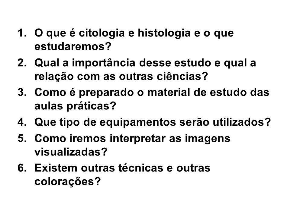 O que é citologia e histologia e o que estudaremos