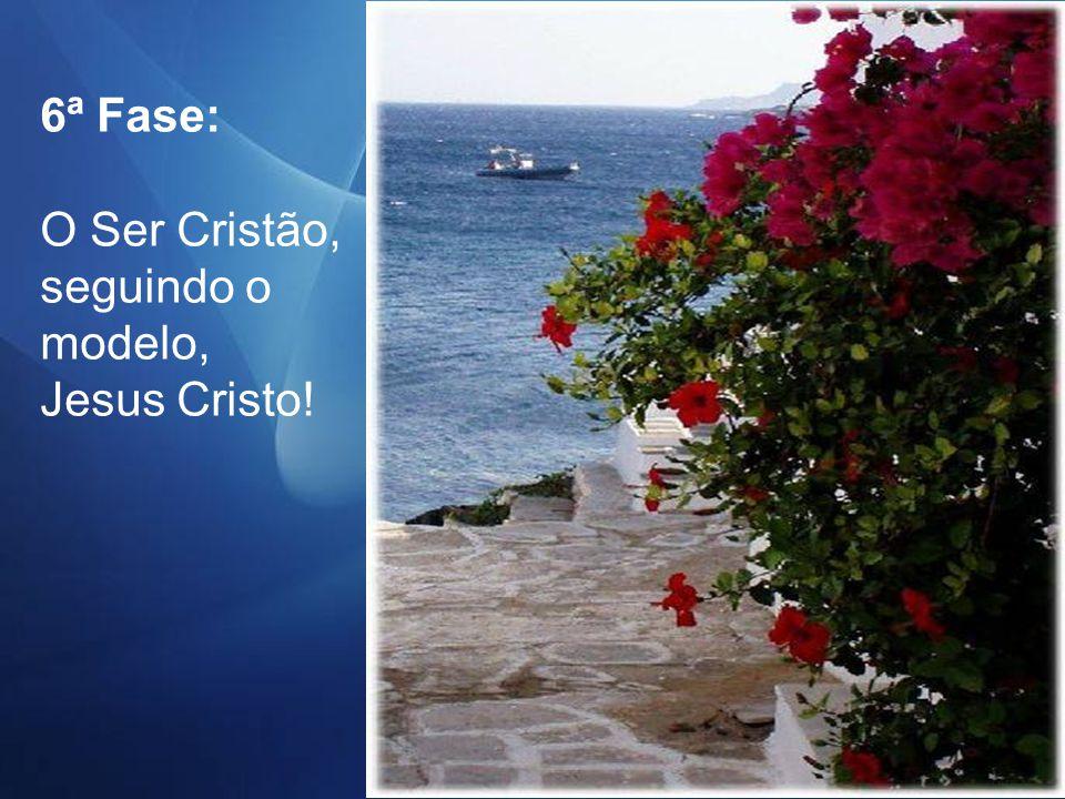 6ª Fase: O Ser Cristão, seguindo o modelo, Jesus Cristo!