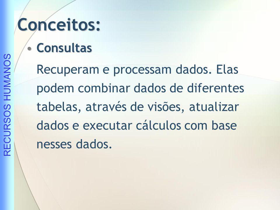 Conceitos: Consultas.